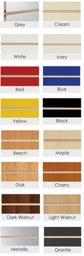Slatted panel options